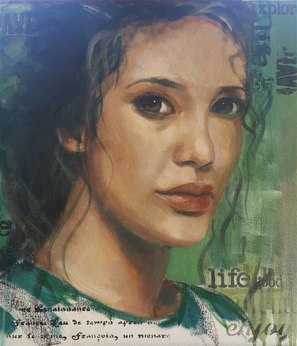 """One life"" original fine art by Rentia Coetzee"
