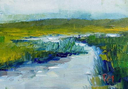 """Meander"" original fine art by Pamela Munger"