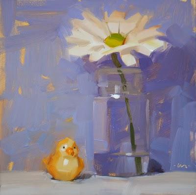 """Birdie Brella"" original fine art by Carol Marine"