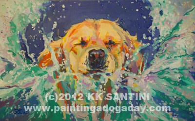 """Cannonball!!"" original fine art by Kimberly Santini"