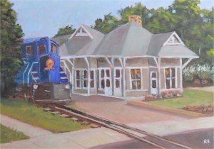 """All Aboard!"" original fine art by Robert Frankis"