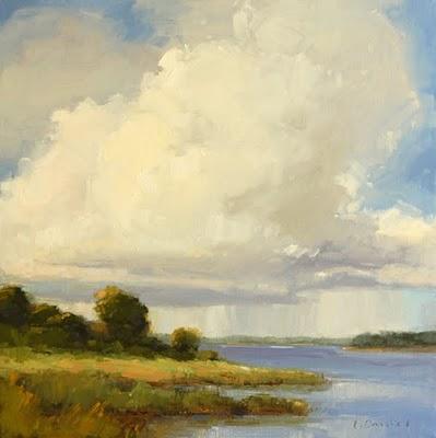 """Summer Rain (enlarged)"" original fine art by Laurel Daniel"