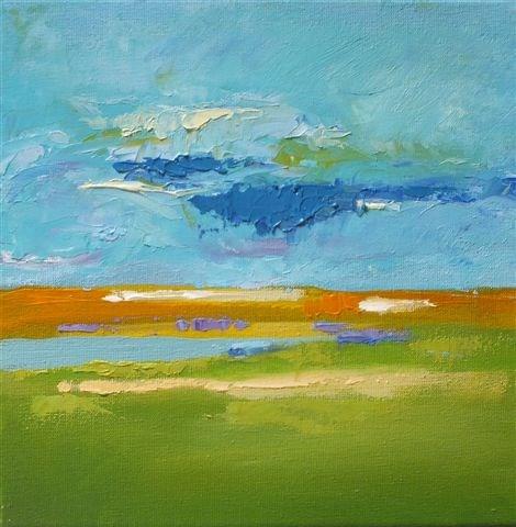 """Landscape 106"" original fine art by Ewa Kunicka"