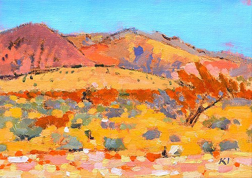 """Red Rocks Plein Air Landscape"" original fine art by Kevin Inman"