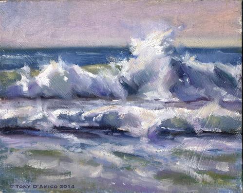 """Surf Study #1"" original fine art by tony damico"