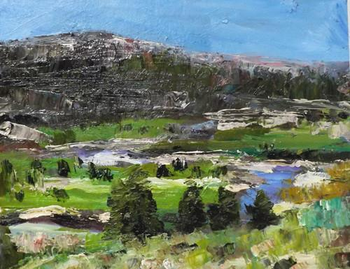 """Landscape,o18"" original fine art by Run-      Zhang Zane"