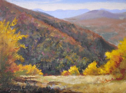 """Autumn in the Mountains"" original fine art by Jamie Williams Grossman"