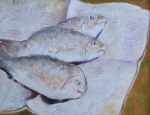 """Today's Catch"" original fine art by Robert Frankis"