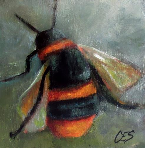 """Bee Happy"" original fine art by ~ces~ Christine E. S. Code"