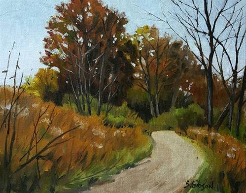 """Fall Trails"" original fine art by Steve Gibson"