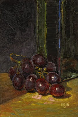"""Grapes"" original fine art by Raymond Logan"