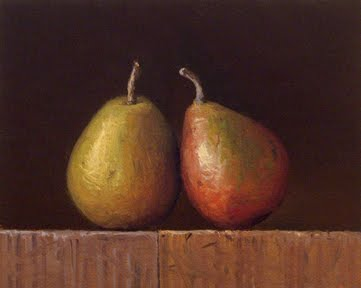 """Two Seckel Pears"" original fine art by Abbey Ryan"