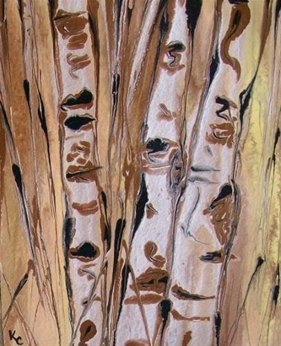 """Abstracted Aspens #41, Kimberly Conrad Artist"" original fine art by Kimberly Conrad"
