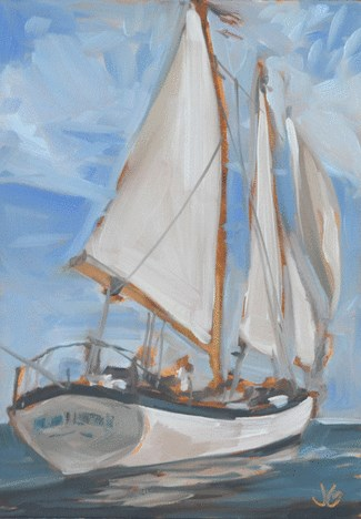 """On the Open Sea"" original fine art by Jessica Green"