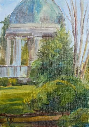"""Resting in the Garden"" original fine art by Carol DeMumbrum"