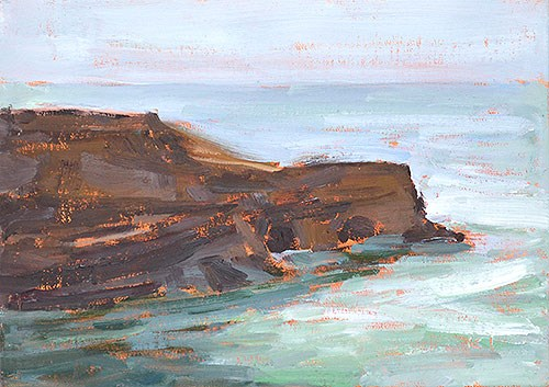 """Sunset Cliffs, OB"" original fine art by Kevin Inman"