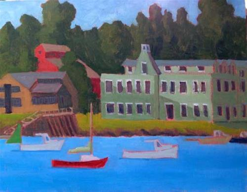 """Yarmouth Harbor"" original fine art by Bobbi Heath"