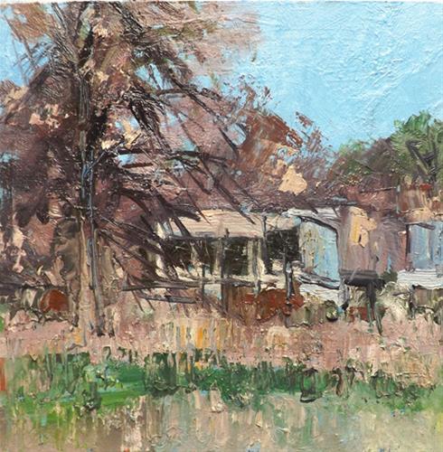 """Landscape,f5"" original fine art by Run-      Zhang Zane"