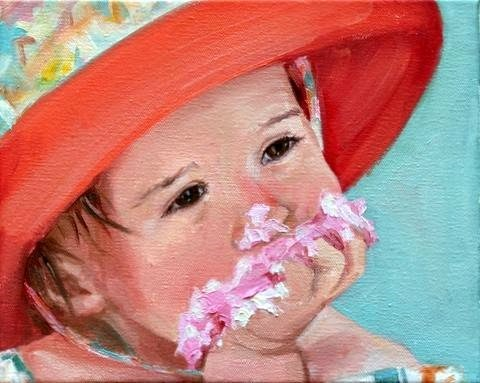 """sugar smash"" original fine art by Carol Carmichael"
