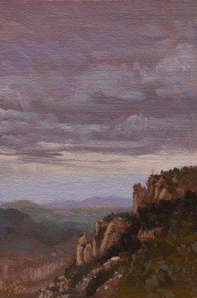 """Landscape in the Clouds, Montserrat, near Barcelona, Spain (+ Thoughts on the Picasso Museum)"" original fine art by Abbey Ryan"