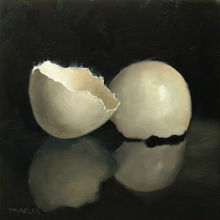 """Cracked Shell"" original fine art by Michael Naples"