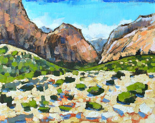"""Red Rocks Canyon"" original fine art by Kevin Inman"
