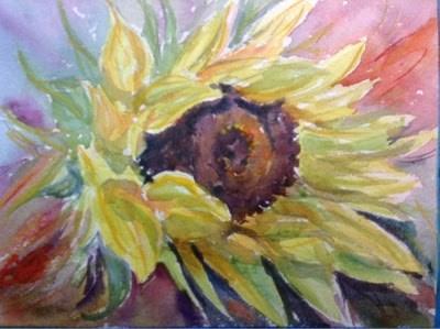 """Day 20 - Peeking Out"" original fine art by Lyn Gill"