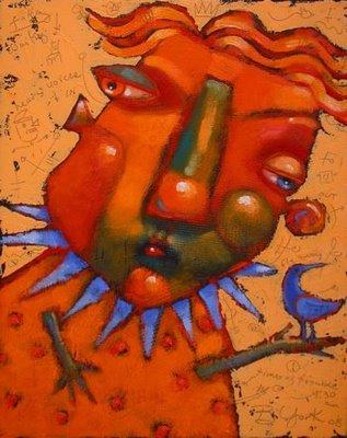 """A Bird In The Hand"" original fine art by Brenda York"