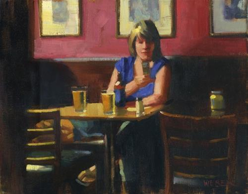 """yr brz gtng wrm"" original fine art by Kathy Weber"