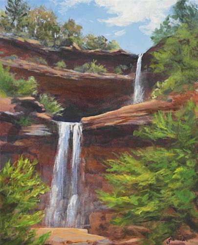 """Kaaterskill Spring Afternoon"" original fine art by Jamie Williams Grossman"