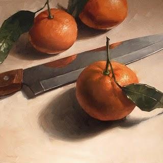 """Tangerine Trio"" original fine art by Michael Naples"