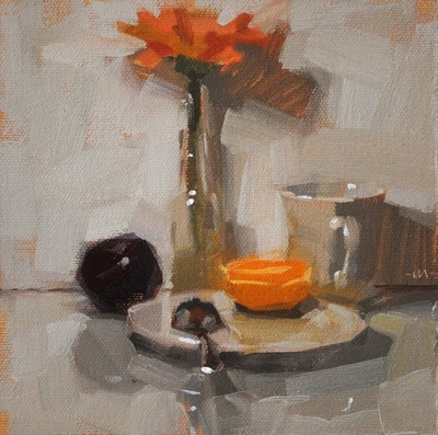 """Simple Breakfast 2"" original fine art by Carol Marine"