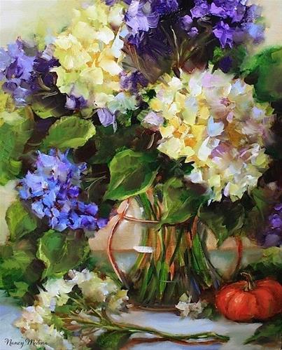 """Love Song Hydrangeas"" original fine art by Nancy Medina"