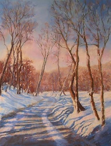"""Dancing Shadows"" original fine art by Ruth Mann"
