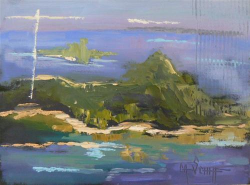 """""""Islands in the Stream II"""" original fine art by Carol Schiff"""