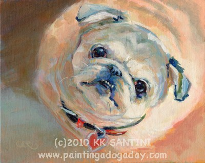 """Come Paint With Me!"" original fine art by Kimberly Santini"