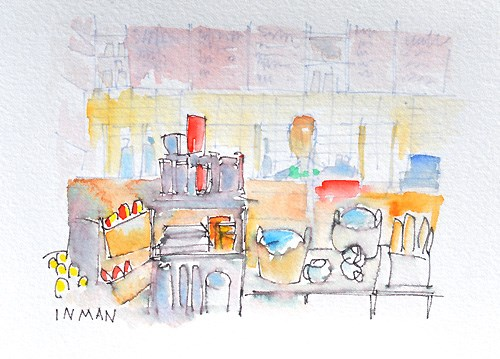 """""""A Caffienated Space"""" original fine art by Kevin Inman"""