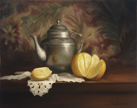 """""""A Peeling Series: Orange Pekoe #903"""" original fine art by Dee Lessard"""
