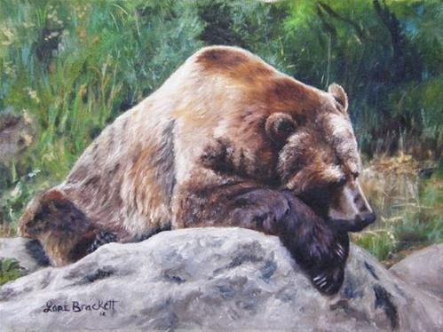 """A Bear Of a Prayer"" original fine art by Lori Brackett"