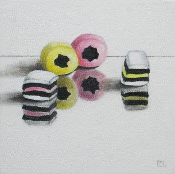 """All Sorts Liquorice"" original fine art by Pera Schillings"