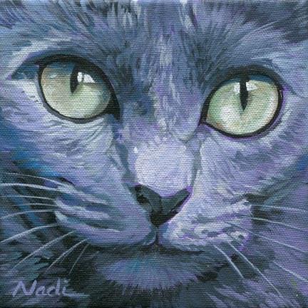 """Cat Eyes 7"" original fine art by Nadi Spencer"