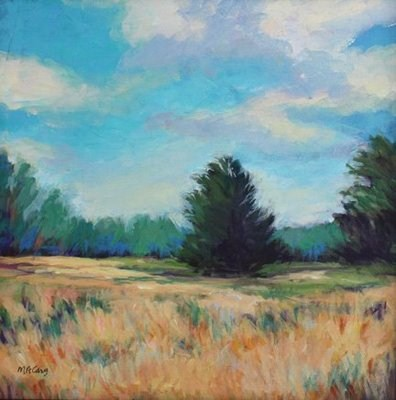 """Summer Field"" original fine art by Mary Anne Cary"