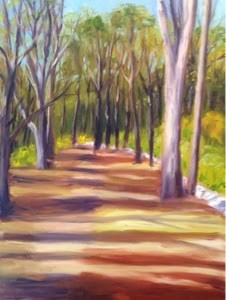 """Shady Lane"" original fine art by Debra Kennedy"