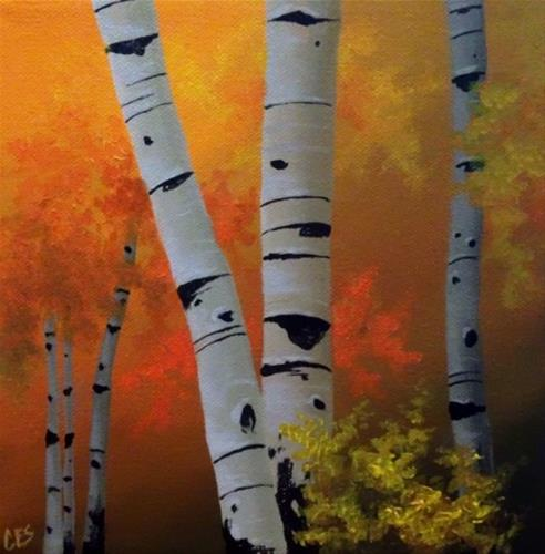 """All of Autumn's Gold"" original fine art by ~ces~ Christine E. S. Code"