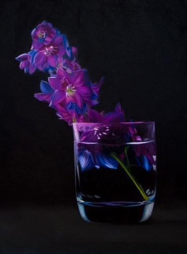 """""""Delphinium"""" original fine art by Lauren Pretorius"""