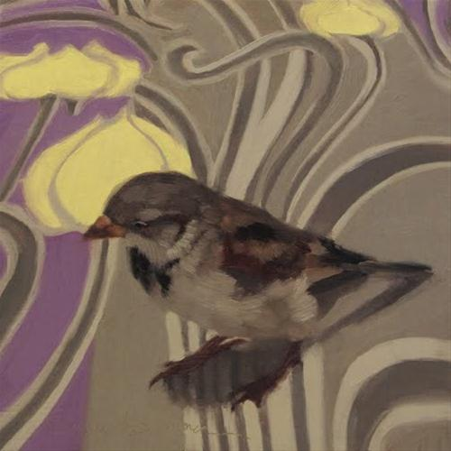 """Sparrow on Pause"" original fine art by Diane Hoeptner"