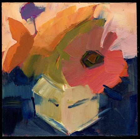 """2235 Zinnia II"" original fine art by Lisa Daria"