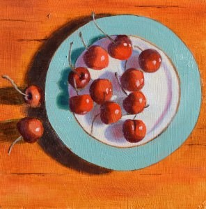 """Cheery Cherries"" original fine art by Robert Frankis"