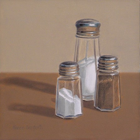 """Salt & Pepper Shakers II"" original fine art by Nance Danforth"