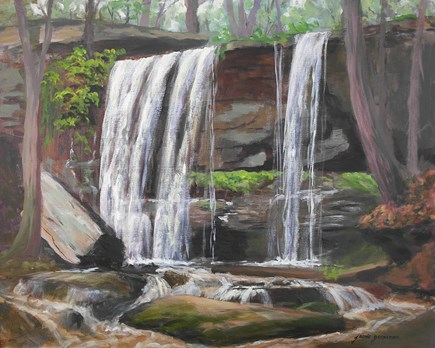 """After the Rain at the Falls"" original fine art by Jamie Williams Grossman"